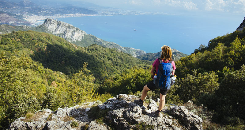 Hiking the amalfi coastal trail Salerno, Italy