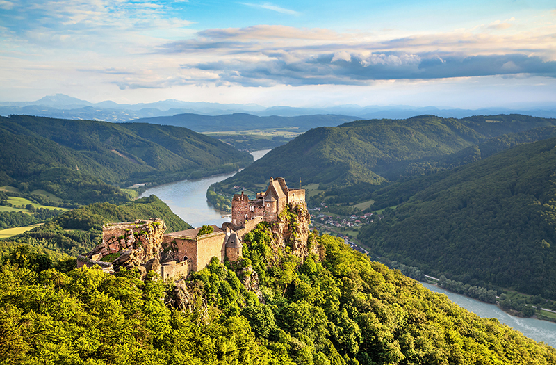 Danube River in Austria. Top Holiday Destinations for 2019